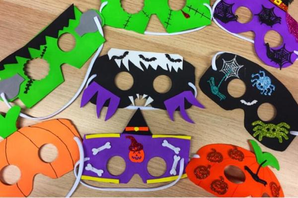laboratorio maschere halloween carnevale